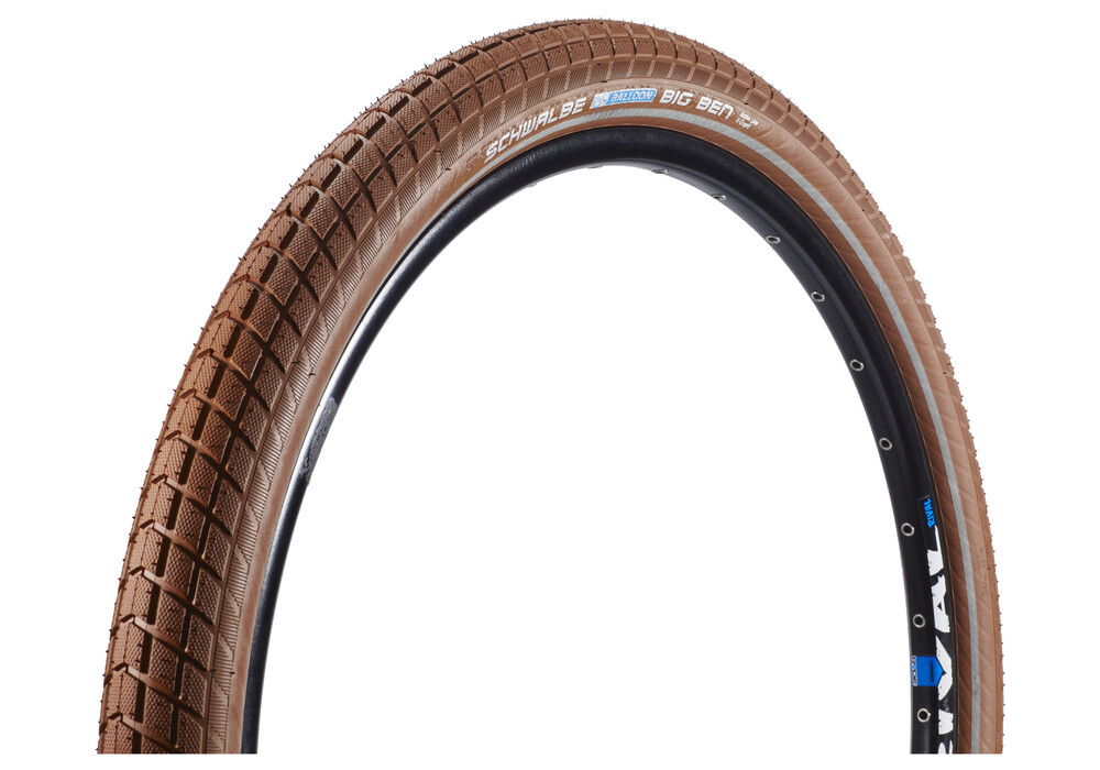 SCHWALBE Big Ben Bike Tire Active 26 K-Guard Twin, wire bead brown ...